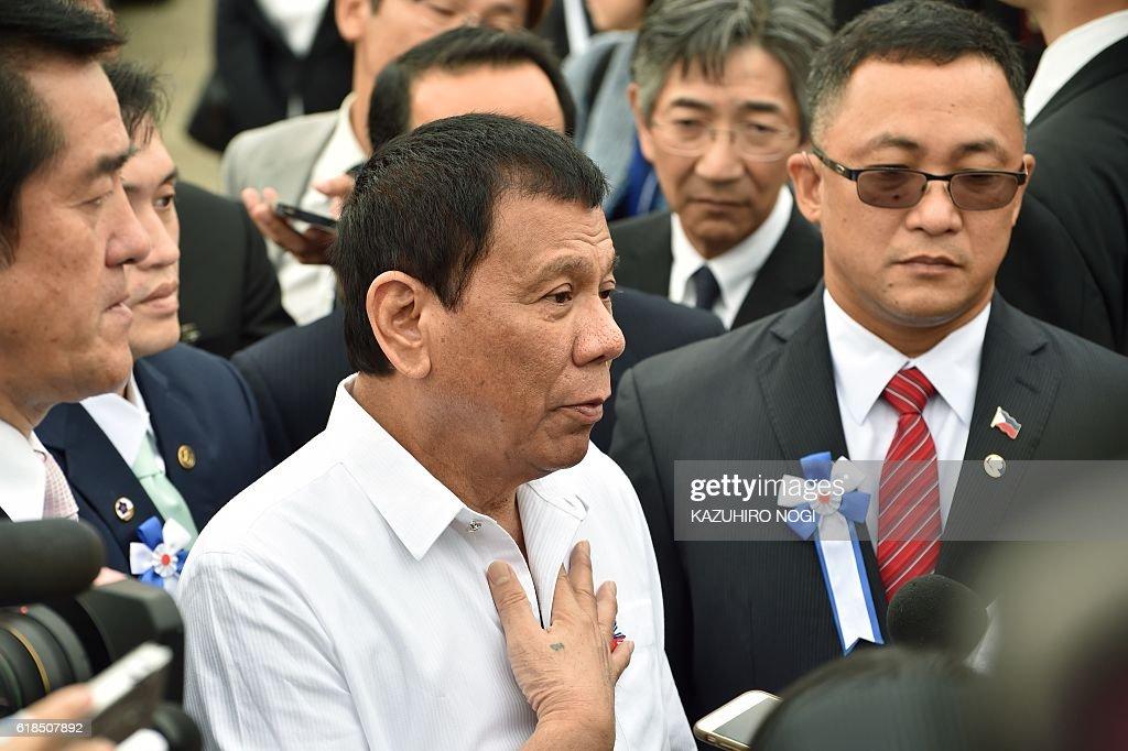 JAPAN-PHILIPPINES-DIPLOMACY-DUTERTE : News Photo