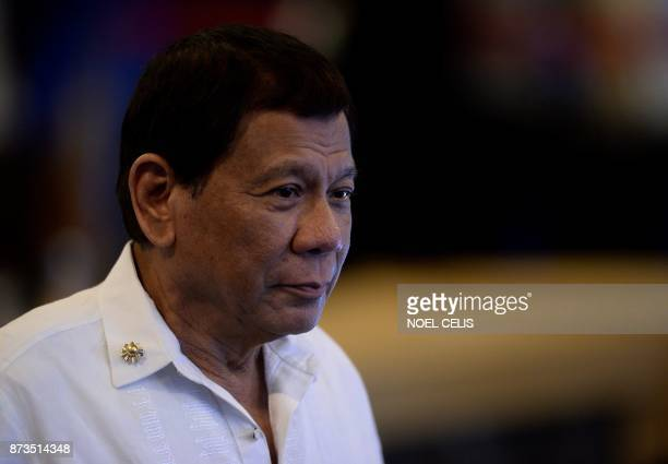 Philippine President Rodrigo Duterte arrives for the 19th Association of Southeast Asian Nations South Korea Summit on the sidelines of the 31st...