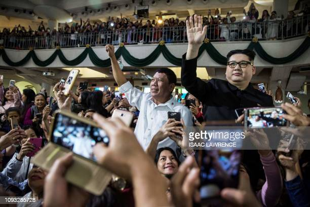 Philippine President Rodrigo Duterte impersonator who goes by the name Cresencio Extreme and a North Korean leader Kim Jong Un impersonator who goes...
