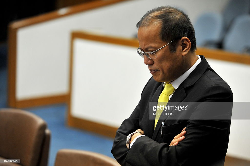 Philippine president-elect Benigno Aquino attends a special session at the Senate in Manila on May 24, 2010. The son of recently deceased democracy heroine Corazon Aquino won the May 10 national elections by a landslide after campaigning on pledges to wipe out corruption in the impoverished nation.