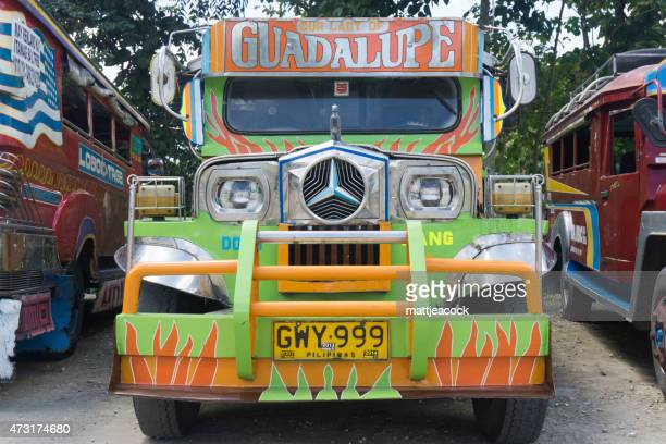 philippine public transport jeepney - jeepney stock pictures, royalty-free photos & images