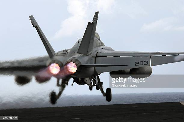 Philippine Sea (December 4, 2006) - An F/A-18E Super Hornet assigned to Strike Fighter Squadron Two Seven (VFA-72) launches off the flight deck of USS Kitty Hawk (CV 63) during cyclic flight operations.