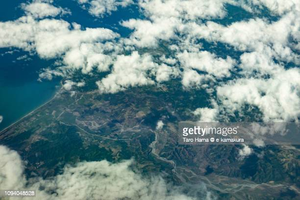 Philippine Sea, Santa Cruz in Province of Occidental Mindoro in Mindoro Island in Philippines daytime aerial view from airplane daytime aerial view from airplane