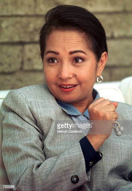 Philippine Vice President Gloria Macapagal Arroyo poses for a photograph October 18, 2000 at Forbes Park Village in Makati, Philippines. Vice...