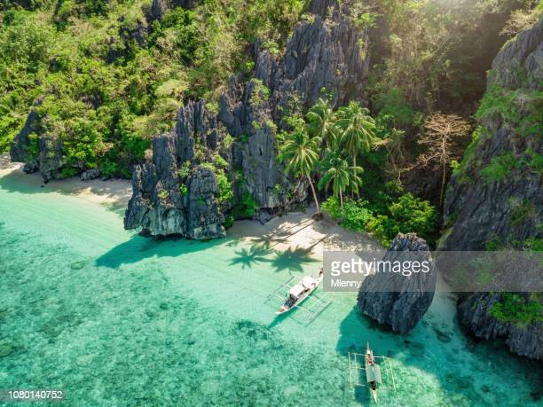 philippines el nido palawan beach - el nido stock pictures, royalty-free photos & images