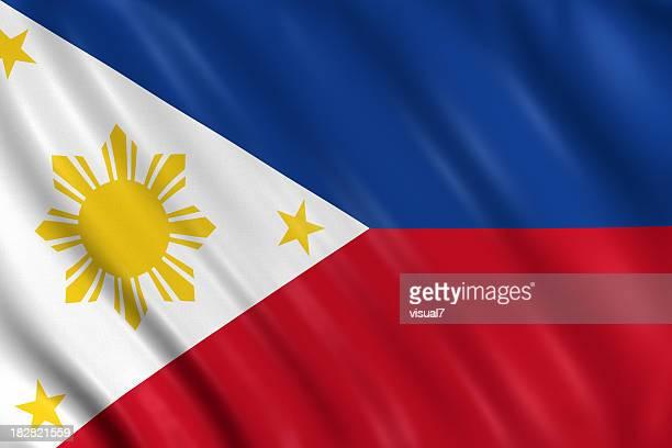 philippinische flagge - philippinen stock-fotos und bilder