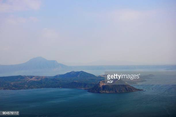Philippines Luzon Island Taal Lake And Volcano