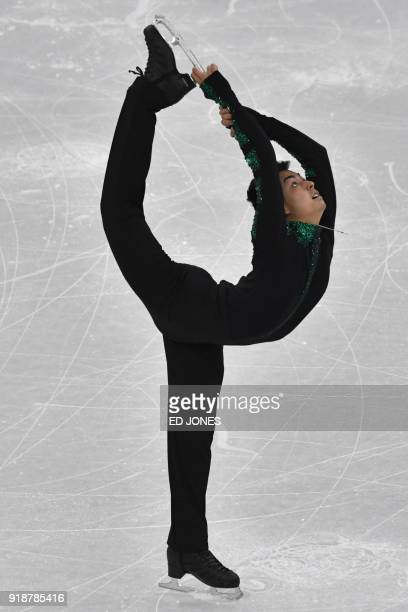 Philippines' Michael Christian Martinez competes in the men's single skating short program of the figure skating event during the Pyeongchang 2018...