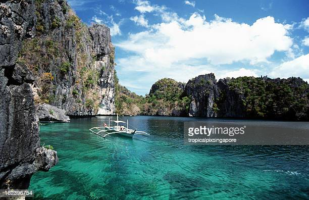 philippines, palawan, miniloc island. - el nido stock pictures, royalty-free photos & images