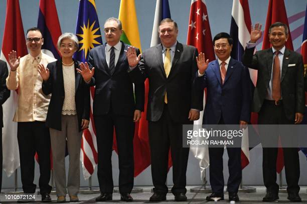 Philippines Philippine Foreign Secretary Alan Peter Cayetano South Korea's Foreign Minister Kang Kyungwha Russia's Deputy Foreign Minister Igor...