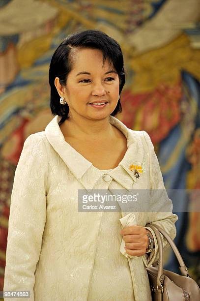 Philippines President Gloria Macapagal Arroyo at the Zarzuela Palace on April 15, 2010 in Madrid, Spain.