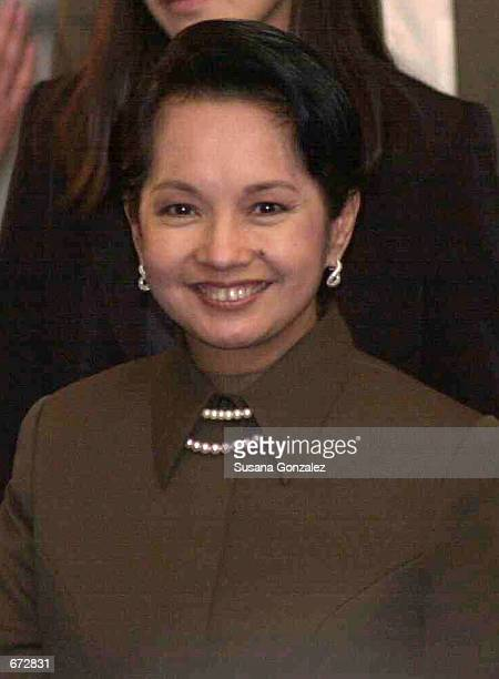 Philippines President Gloria Macapagal Arroyo attends the International Democratic Christian Reunion organized by the National Action Party November...