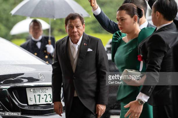 Philippines President, Rodrigo Duterte, arrives to attend the Enthronement Ceremony Of Emperor Naruhito of Japan at the Imperial Palace on October...