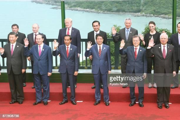 Philippines President Rodrigo Duterte Russian President Vladimir Putin US President Donald Trump Thai Prime Minister Prayuth Chanocha Singapore Prime...
