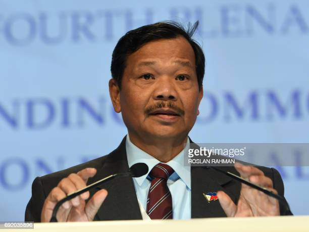 Philippines Under Secretary for Defense Policy Ricardo David speaks at the 16th Institute for Strategic Studies ShangriLa Dialogue Summit in...