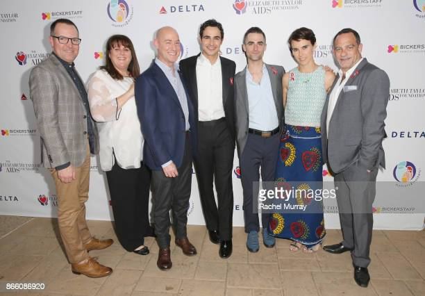 Philips McCarty Barbara Berkowitz Tim Mendelson Zac Posen Quinn Tivey Naomi Wilding and Joel Goldman attend The Elizabeth Taylor AIDS Foundation and...