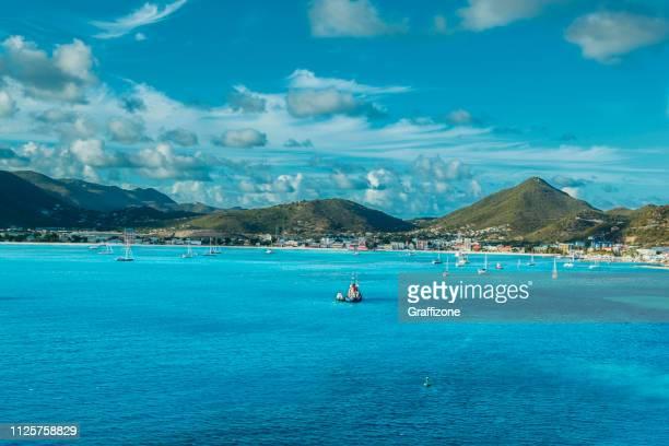 philipsburg st. maarten - sint maarten caraïbisch eiland stockfoto's en -beelden