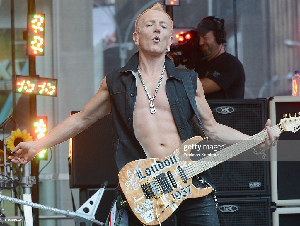Phill Collen of Def Leppard performs during 'FOX & Friends' All American Concert Series at FOX Studios on June 15, 2012 in New York City.