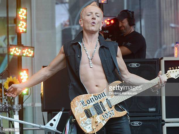 Phill Collen of Def Leppard performs during FOX Friends All American Concert Series at FOX Studios on June 15 2012 in New York City