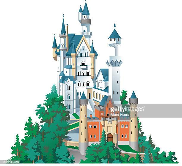 Phill Flanders illustration of a fairytale castle