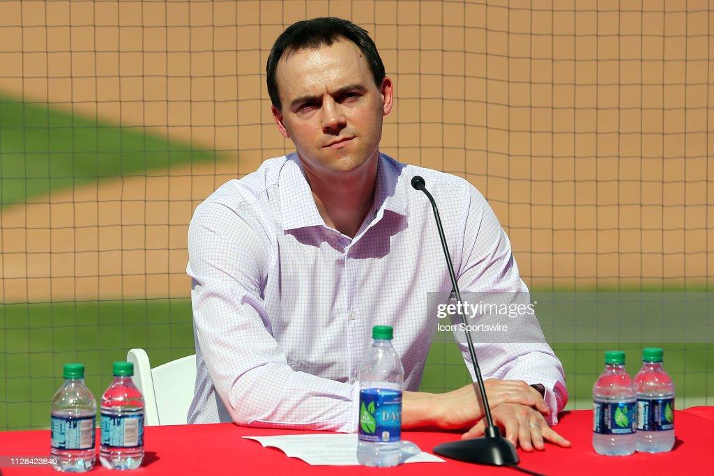 MLB: MAR 02 Spring Training - Bryce Harper Press Conference : News Photo