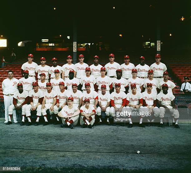 Phillies World Series Team Left to right Jim Bunning Clay Dalrymple Ruben Amaro Bob Wine John Herrnstein Wes Covington Gus Triandos Ed Roebuck Vic...