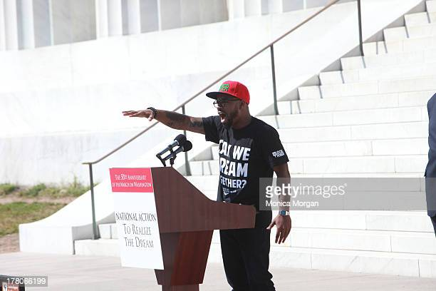 Phillip Agnew attends the 50th Anniversary Of Martin Luther King's March On Washington on August 24 2013 in Washington DC