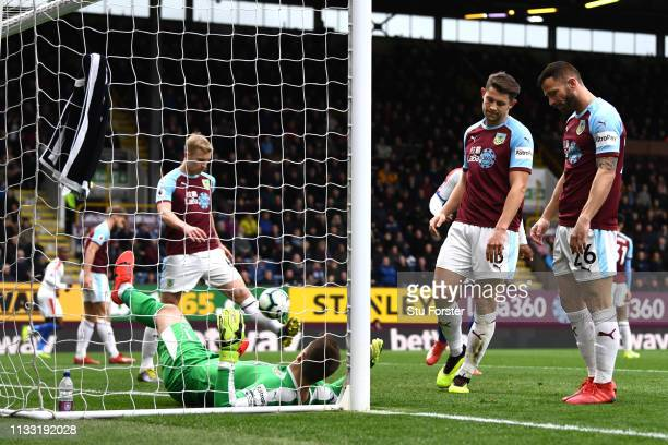 Phillip Bardsley of Burnley reacts to scoring a own goal for Crystal Palace first goal of the game during the Premier League match between Burnley FC...