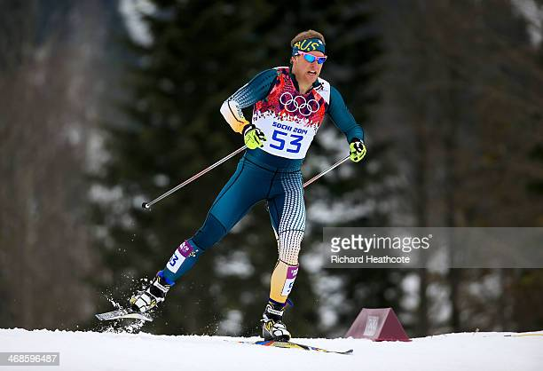 Phillip Bellingham of Australia competes in Qualification of the Men's Sprint Free during day four of the Sochi 2014 Winter Olympics at Laura...