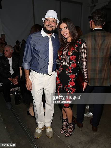 Phillip Bloch and Adriana De Moura attends Zang Toi Front Row September 2016 during New York Fashion Week at Pier 59 Studios on September 13 2016 in...