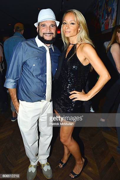 Phillip Bloch and Indira Cesarine attend Interview Topshop Celebrate the Interview September Issue at Kola House on September 13 2016 in New York City
