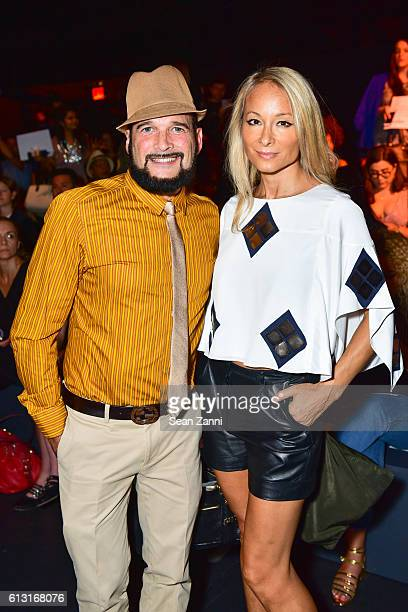 Phillip Bloch and Indira Cesarine attend Naeem Khan Front Row September 2016 New York Fashion Week The Shows at The Arc Skylight at Moynihan Station...