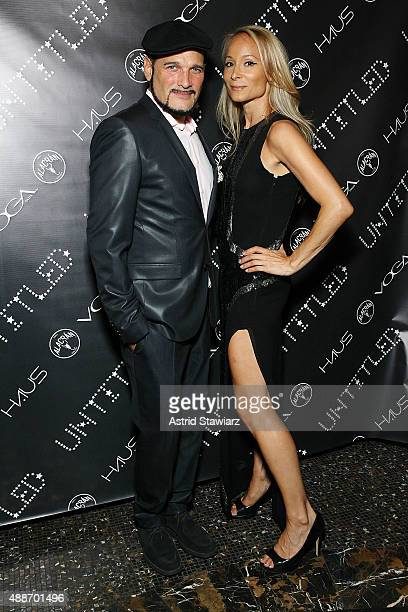 Phillip Bloch and Indira Cesarine attend The Untitled Magazine Celebrates The #GirlPower Issue at Haus on September 16 2015 in New York City