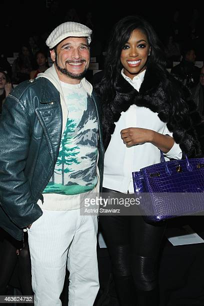 Phillip Bloch and Porsha Stewart attend the Vivienne Tam fashion show during MercedesBenz Fashion Week Fall 2015 at The Theatre at Lincoln Center on...