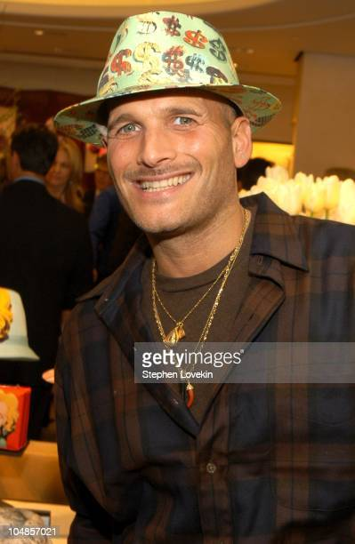 Phillip Bloch in a Phlip Treacy hat during Philip Treacy Shows His Spring 2003 Hat Collection at Bergdorf's at Bergdorf Goodman in New York City, NY,...