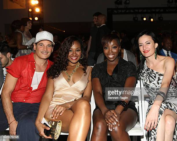 Phillip Bloch Janell Snowden Estelle and CuCU Diamantes attend the Catherine Malandrino Fashion Show benefiting FFAWN at The Museum of Modern Art on...