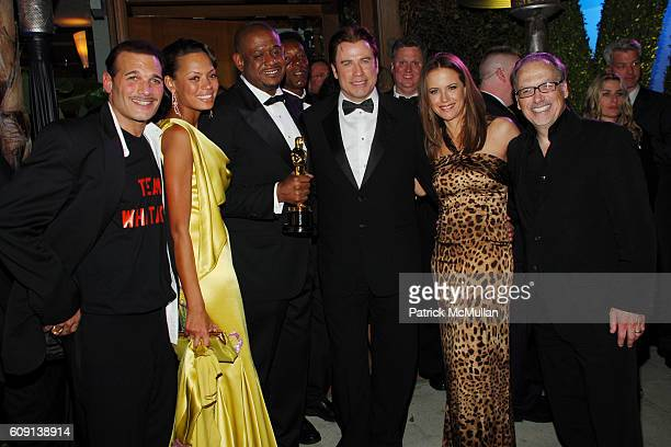 Phillip Bloch Keisha Whitaker Forest Whitaker John Travolta Kelly Preston and Jerry Inzerillo attend VANITY FAIR Oscar Party at Morton's on February...