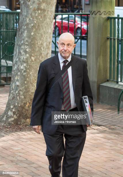 Phillip Boulten SC the legal representatitive for Michael and Fadi Ibrahim arrives at Sydney Central Local Court on September 18 2017 in Sydney...