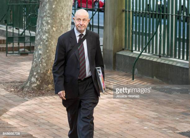 Phillip Boulten SC, the legal representatitive for Michael and Fadi Ibrahim arrives at Sydney Central Local Court on September 18, 2017 in Sydney,...