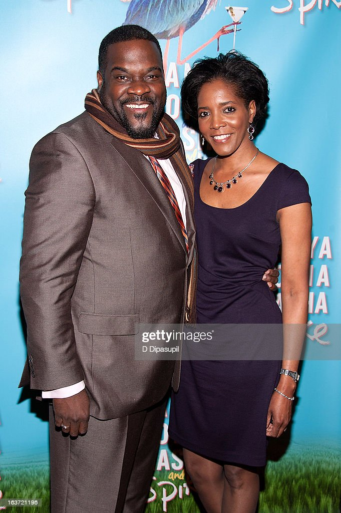 Phillip Boykin (L) and wife Felicia Richardson Boykin attend the 'Vanya And Sonia And Masha And Spike' Broadway Opening Night After Party at Gotham Hall on March 14, 2013 in New York City.