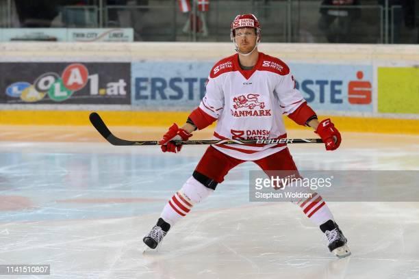 Phillip Bruggisser of Denmark during the Austria v Denmark - Ice Hockey International Friendly at Erste Bank Arena on May 5, 2019 in Vienna, Austria.