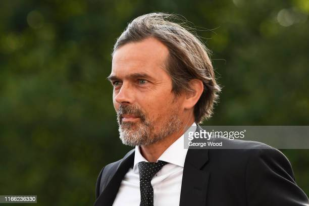 Phillip Cocu manager of Derby County arrives prior to the Sky Bet Championship match between Huddersfield Town and Derby County at John Smith's...