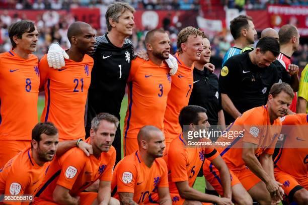 Phillip Cocu Ryan Babel Edwin van der Sar John Heitinga Dirk Kuyt Rafael van der Vaart Andre Ooijer Wesley Sneijder Giovanni van Bronckhorst Frank de...