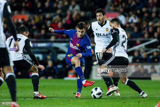 Phillip Couthino from Brasil of FC Barcelona during Copa del Rey match between FC Barcelona v Valencia at Camp Nou Stadium in Barcelona on 01 of...