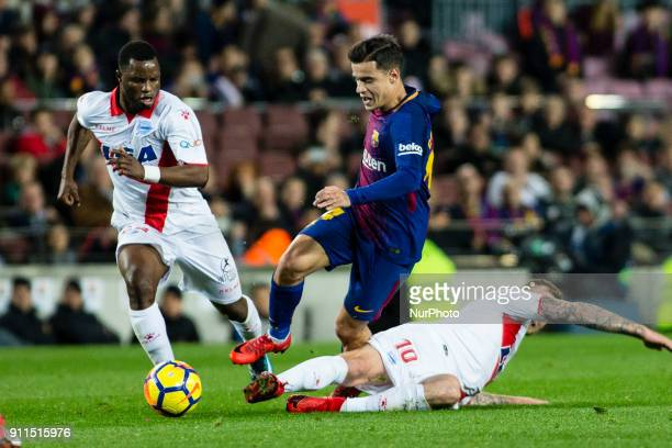 Phillip Couthino from Brasil of FC Barcelona during La Liga match between FC Barcelona v Alaves at Camp Nou Stadium in Barcelona on 28 of January 2018
