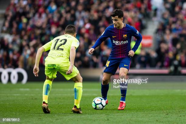 Phillip Couthino from Brasil of FC Barcelona during La Liga match between FC Barcelona v Getafe at Camp Nou Stadium in Barcelona on 11 of February...