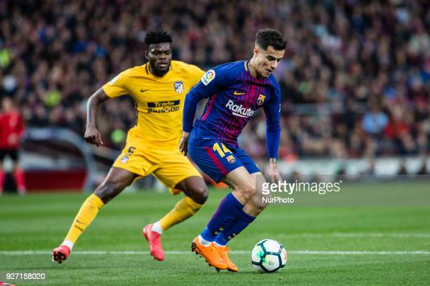 14 Phillip Couthino from Brasil of FC Barcelona during La Liga match between FC Barcelona v Atletico de Madrid at Camp Nou Stadium in Barcelona on 04...