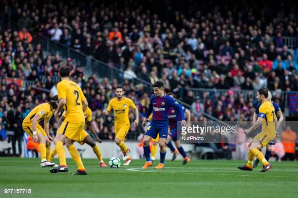 14 Phillip Couthino from Brasil of FC Barcelona La Liga match between FC Barcelona v Atletico de Madrid at Camp Nou Stadium in Barcelona on 04 of...