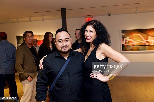 Phillip Cuenco and Paris Chong attend Leica Gallery Presents Michael Grecco's After The Audition at Leica Gallery Los Angeles on January 17 2017 in...