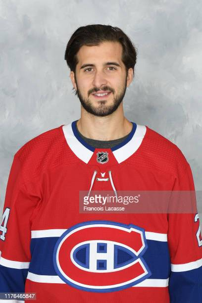 Phillip Danault of the Montreal Canadiens poses for his official headshot for the 2019-2020 season on September 13, 2019 at the Bell Sports Complex...